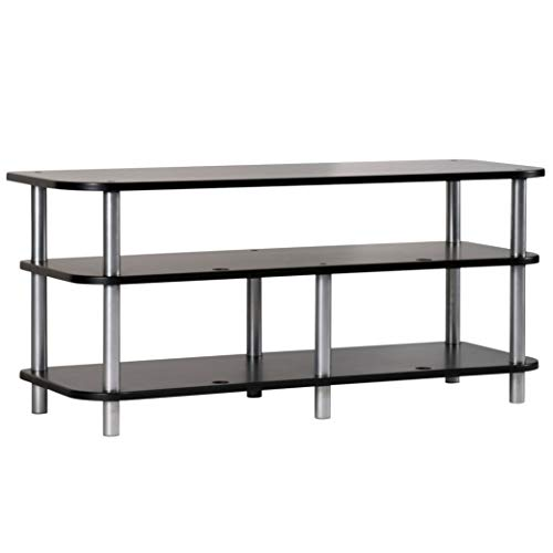 """Sanus Heavy Duty Stand For AV Equipment - Extra Long 48"""" Design Looks Great Holding A TV In The Living Room Or Supporting Up To 400lbs Of Heavy Audio Equipment In The Back Closet"""