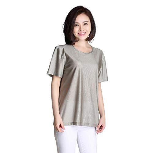 Anti-Strahlen-Umstandskleid, Strahlenschutzweste 100% Silberfaser-Spitzen-Strahlenschutzanzug Für Schwangere EMF-Schutzkleidung,M