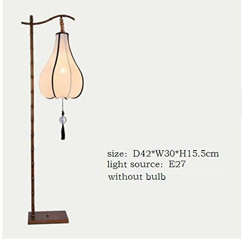 W-SHTAO L-WSWS Lámparas Chino Moderno Lámpara de pie Antiguo Creativo Nostálgico Estudio cabecera del Dormitorio de la lámpara Linterna Vertical Sala de Estar (Lampshade Color : A Without Bulb)