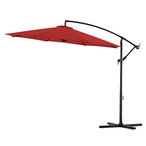 Bluu 10ft Patio Offset Umbrella Cantilever Umbrella Hanging Market Umbrella Outdoor Umbrellas with...