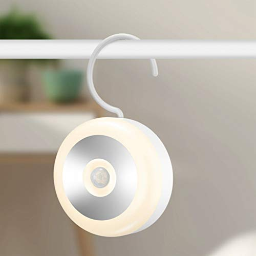 XHSHLID Ronde Roterende Oplaadbare Bewegingssensor Geactiveerde Wandlamp Nachtlampje Inductie Lamp Voor Closet Corridor Cabinet