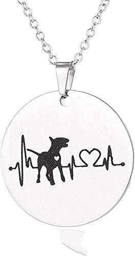BACKZY MXJP Halskette Herz Bulldogge Dackel Bull Terrier Halskette Für Frauen Schmuck Nette Welpen Hund Anhänger Halskette Charme Herzschlag Halsbänder