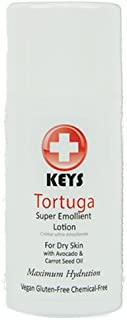 Keys Tortuga Vegan, All Natural, Gluten Free, Chemical Free Super Emollient Therapeutic Maximum Hydration Face, Hand, Body Lotion, Fast Relief for Dry Skin with Concentrated Shea Butter, 3.4 ounces