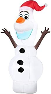 5 Ft Olaf Disney Frozen Outdoor Lawn Airblown Inflatable Blow up with LED Lighting NEW 2015