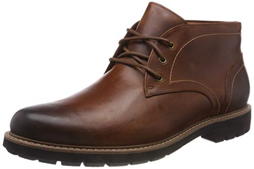 Clarks Herren Batcombe Lo Chelsea Boots, Braun (Dark Tan Lea), 42.5 EU