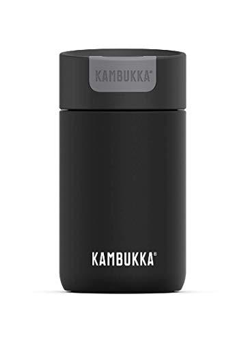 Kambukka La taza mantiene tus bebidas calientes hasta 6 horas y heladas hasta 11 horas - 300 ML - Jet Black - Tapa de interruptor - Tecnología Snapclean