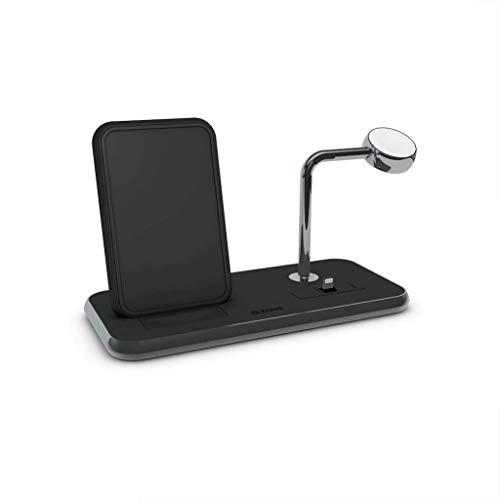 ZENS Aluminium Stand + Apple Watch + Dock Qi schwarz