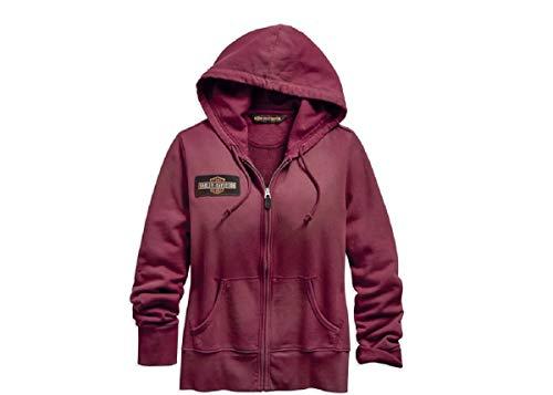 HARLEY-DAVIDSON Kapuzen-Jacke Sweat-Jacke Damen Aufdruck Reißverschluss-Hoodie, XL