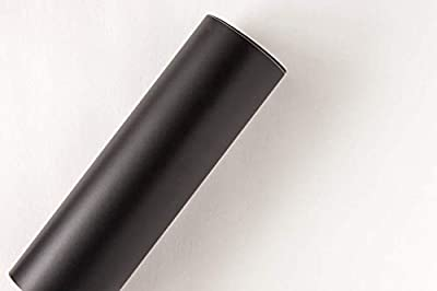 "12"" x 10 ft Roll of Matte Oracal 631 Black Repositionable Adhesive-Backed Vinyl for Craft Cutters, Punches and Vinyl Sign Cutters by VinylXSticker"