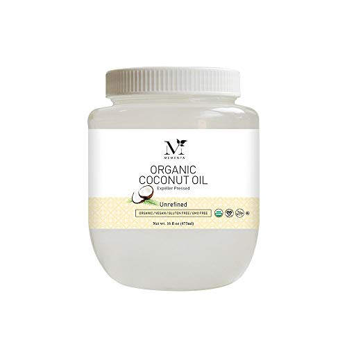 Mementa Organic Coconut Oil Expeller-pressed Unrefined, 16 fl. oz.…