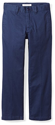 Amazon Essentials Straight Leg Flat Front Uniform Chino Pant Niños