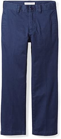Amazon Essentials Boys Straight Leg Flat Front Uniform Chino Pant Navy Blue 8 product image