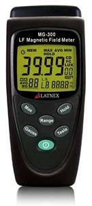 LATNEX MG-300 LF Magnetic Field Meter, Measures EMF Radiation from High-Power Transmission Lines, Appliances, Electrical Wires - Perfect for EMF Home Inspectios