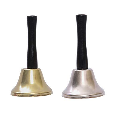 Amosfun Glocken der Hand 2pcs für Weihnachtsfesthochzeitsrestaurant-Anrufservice-Glockenweihnachtsdekorationen