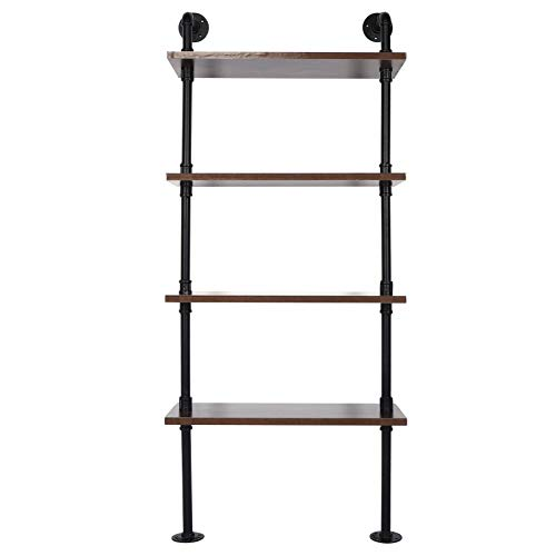 SHYEKYO Industrial Style Open Shelf, Cool Retro Design Perfect Storage Solution Retro Design Bookshelf for Kitchen Living Room, Hallway