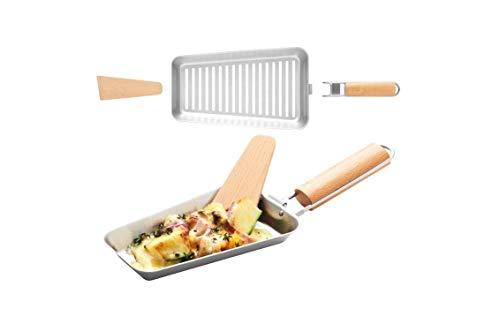 Grillpfanne Grill Gemüsepfanne Grillgutpfanne Grillzubehör aus Edelstahl BBQ Grill