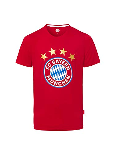 Camiseta de logotipo München FCB Rojo + Gratis Pegatinas München Forever, manga, camiseta, Munich, FC Bayern Múnich, rojo