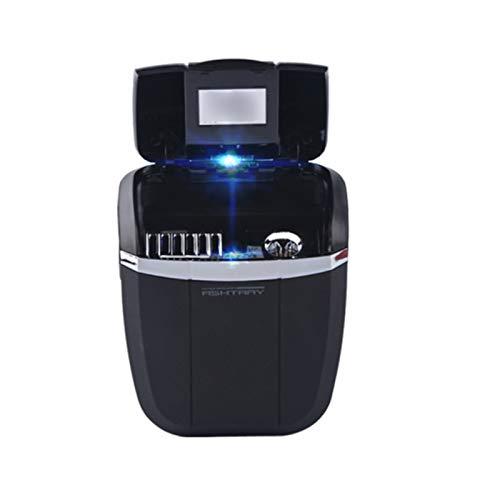 NACHEN Autoaschenbecher Portable Abnehmbare Aschenbecher Mit Blauer LED Anzeige Licht Für Die Meisten Auto Cup Halter,Black,78X45x85mm