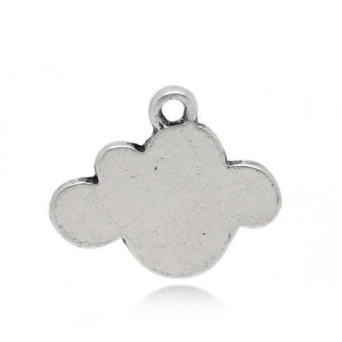 Charming Beads Tibetano Nuvola Ciondolo/Pendente Argento Antico 16mm Pacco di 5