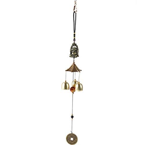 SOURBAN Vintage Dragon Buddha Bell Windchime Good Luck Bless Home Garden Hanging Windchime,Buddha