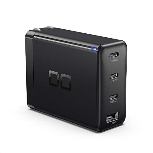 CIO LilNob USB PD 4ポート 100W 急速 充電器 GaN 窒化ガリウム Type-C/USB-C/折畳式プラグ 超コンパクト i...