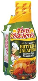 Tony Chachere's Creole Butter and Jalapeno Marinade, 17 Oz (2)