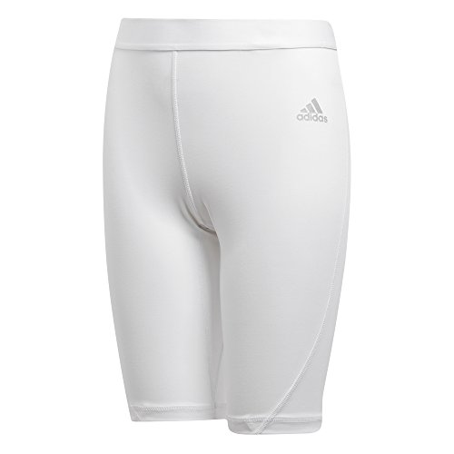adidas unisex-youth Alphaskin Shorts Tights White Large
