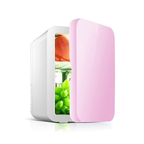 Maquillaje Mini frijoles cosméticos, 8L Protección de la piel Nevera de escritorio Refrigeradores compactos AC/DC Congelador pequeño Compacto Congeladores verticales