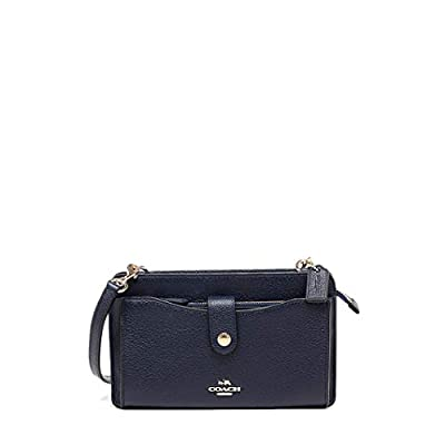 Coach Women`s Pop-Up Messenger Bag In Polished Pebble Leather (One Size, Slate Multi/Gunmetal)