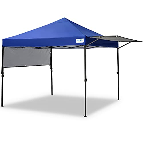 Quictent 10x10 Pop up Gazebo Tent Instant Outdoor Canopy Tent with Adjustable Dual Awnings and Wheeled Bag for Patio, Lawn and Backyard (Royal Blue)