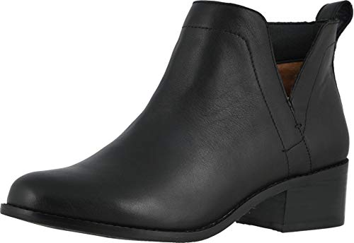 Vionic Women's Hope Clara Ankle Boots - Ladies Booties with Concealed Orthotic Arch Support Black 6 Medium US