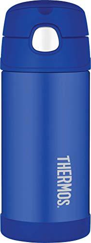 Funtainer Thermoskanne, Edelstahl, Strohhalmflasche, 355ml Strohhalm für Flasche blau