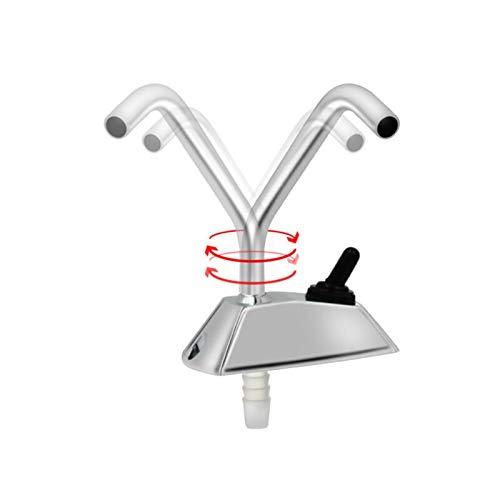 NERR YULUBAIHUO Grifo de rotación de galera eléctrica de 12V + Interruptor + para Barco/Caravana/Autocaravana/RV