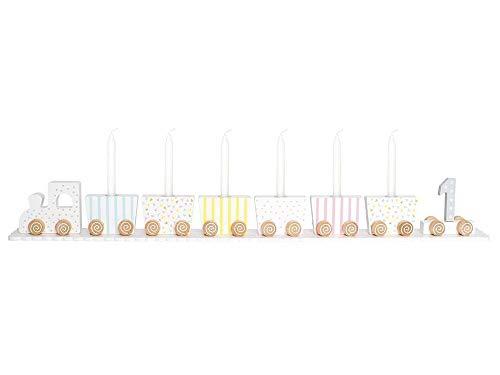 JaBaDaBaDo T239 Kerzenhalter aus Holz, Mehrfarbig, 630 x 70 x 60 mm, Tischdekoration