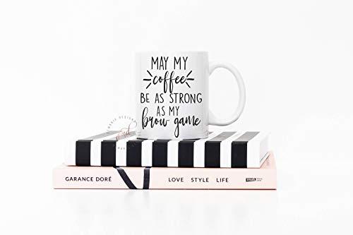 Tasse à cils cadeau cils et sourcils pour fête de mariée, demoiselle d'honneur, cadeau pour elle, pinceau de maquillage, tasse à café