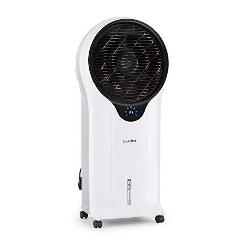 Klarstein Whirlwind - 3-in-1: Luftkühler, Ventilator, Luftbefeuchter, Luftumwälzung: 1600 m³/h, Wassertank: 5,5 Liter, Oszillation, 3 Geschwindigkeiten, 3 Betriebsmodi, Timer, leise, antikweiß