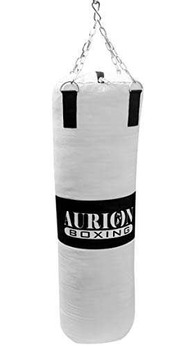 Aurion Rex Leather Unfilled Heavy Punch Bag  with Hanging Chain