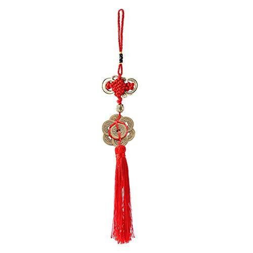Monedas e Hilo rojo como Amuleto para Riqueza y Protección - Amuleto