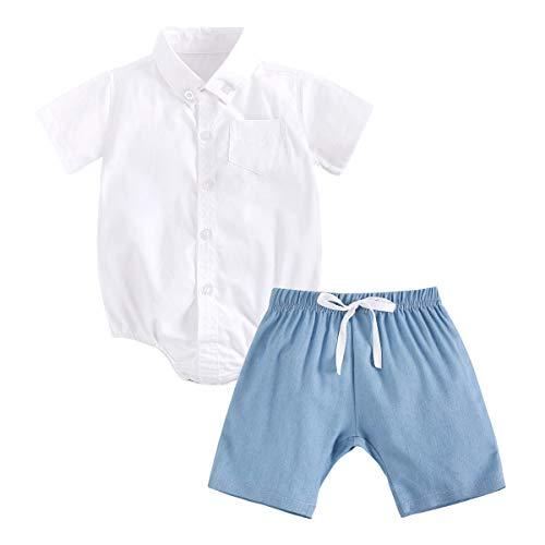 UMore Baby Kleidung Set Baby Kleinkind Kinder Jungen Mädchen Kleidung Kurzarm T-Shirt Tops + Shorts Sommer-Outfits 0-3 Jahre