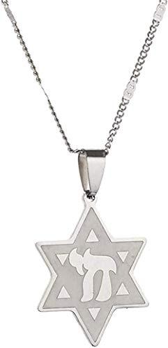 Zaaqio Estrella de David Collar de Acero Inoxidable Joyería de Cadena Collar Colgante Joyería Joyería de Moda