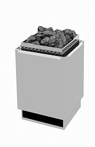 Saunaofen W-therm Wandmodell Typ WK 30 - 4,5 kW Edelstahlmantel