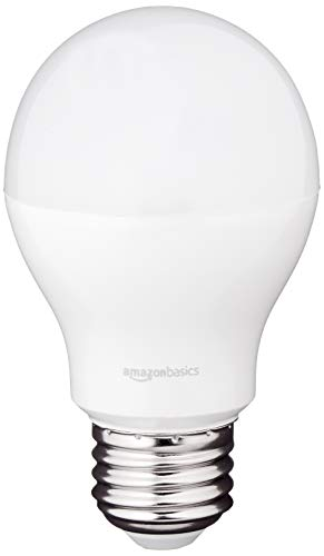AmazonBasics 60 Watt Equivalent, Soft White, Dimmable, A19 LED Light Bulb   6-Pack