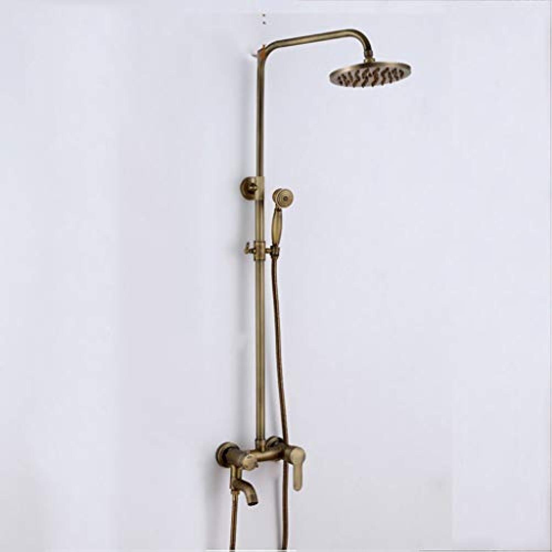 GZF mischbatterie für Dusche,Duschset, europische Retro, hochwertige, Kupfer, Multi-Funktion, Badezimmer Dusche