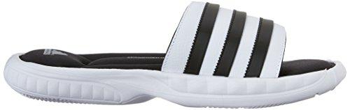 adidas Performance Superstar 3G Slide Sandal, Blanc/Noir/Argent, 8 M Us