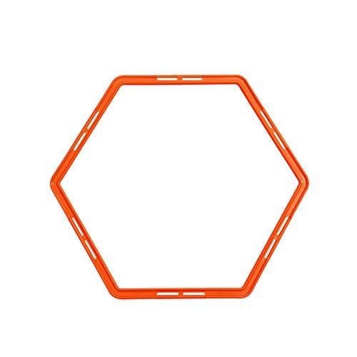 Fußball-Training Ringe Sechseck geformte Beweglichkeit Übung Ringe Physical Training Ring Football Trainer Speed ??Training Ringe mit Karten Buckle 1pc orange