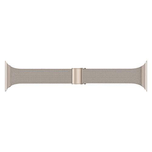 Seltureone Correa de metal compatible con Apple Watch 38 mm 40 mm, acero inoxidable de repuesto compatible para iWatch Serie 5/4/3/2/1 Sport Edition para hombre y mujer, vintage dorado.