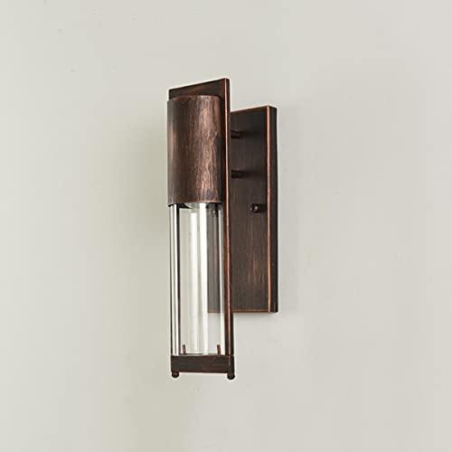 JXEXF Luces de pared al aire libre de metal, lámpara impermeable del mamparo Lámpara de pared marina luz náutica, lámpara de pared de jardín moderno al aire libre linterna, e27 luces de porche de luz