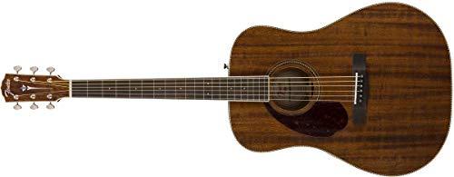 Fender Paramount PM-1 - Guitarra acústica (caoba, estilo Dreadnought, diapasón ovangkol, con funda, LH