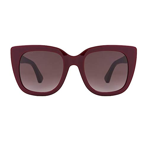 Gucci Gafas de Sol GG0163S BURGUNDY/BROWN SHADED mujer