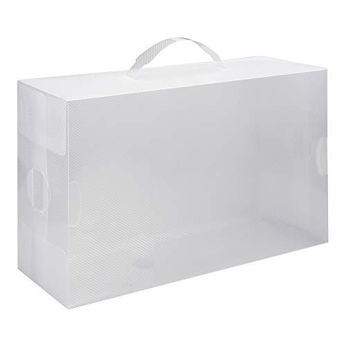 Vinsani Boîte de rangement pliable en plastique pour chaussures avec poignée 20 PACK